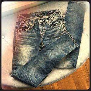 Silver Boyfriend Jeans Womens size W24/L29
